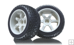 1/5 buggy tires set with insert for smartech carson white